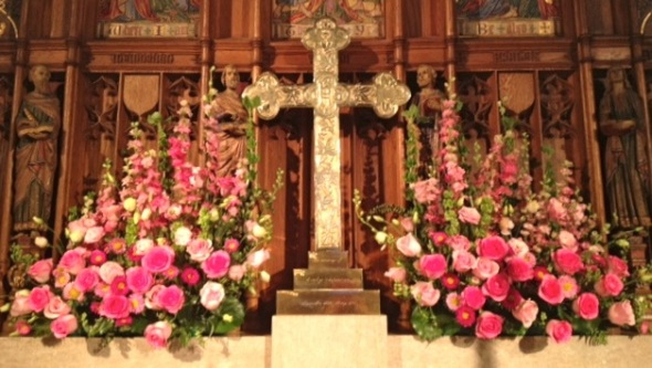 Valentine's Altar Flowers