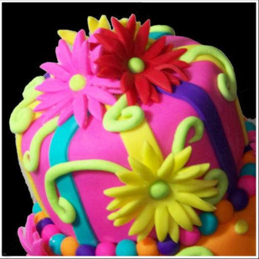 Floral hat cake