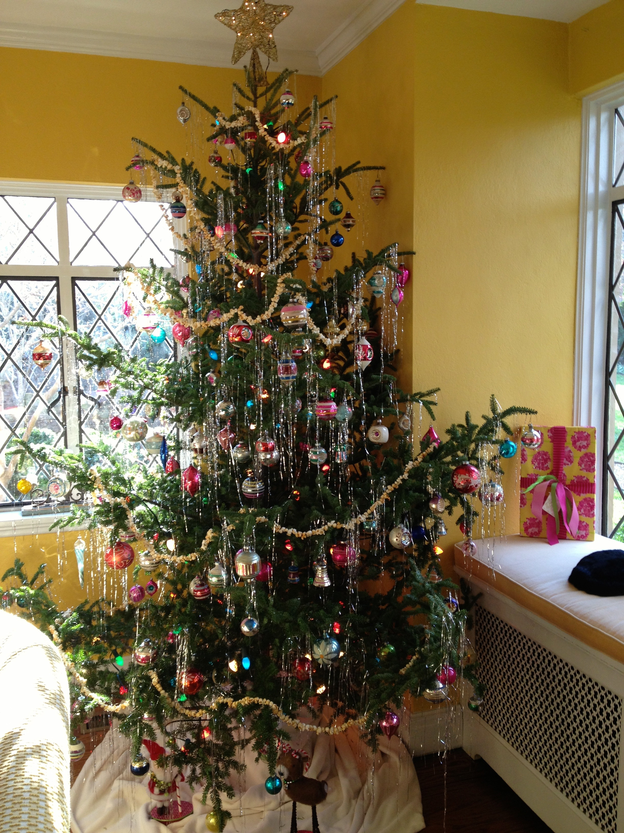 Tinselled tree spotted on the st catherine s school holiday house